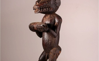 Mask - Wood - Gbekre, Mbra Top patina - Baoulé - Ivory Coast