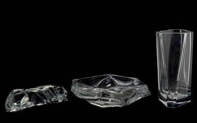 Modern Continental Group of Clear Glass Table Articles