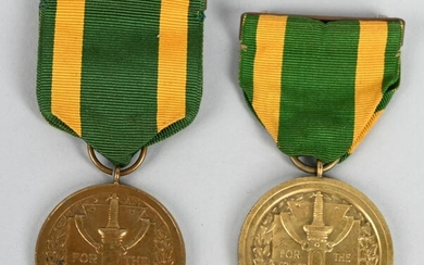 NUMBERED ARMY SPANISH WAR SERVICE MEDAL LOT OF 2
