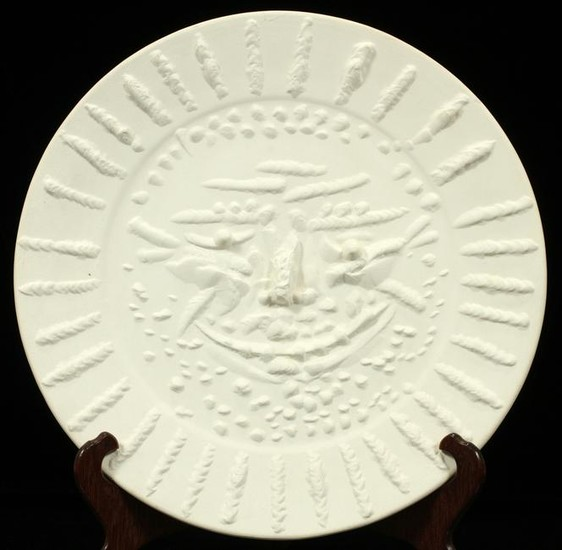 PABLO PICASSO WHITE EARTHENWARE CHARGER, 1956