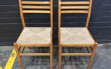 Pair Of Timber Dining Chairs (H81cm)
