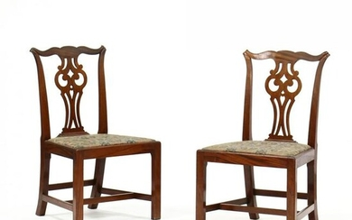 Pair of Bench Made Chippendale Style Mahogany Side