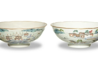 Pair of Chinese Famille Rose Bowls, 19th Century