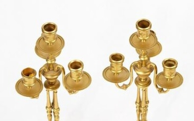 Pair of candelabra 19th century french champleve