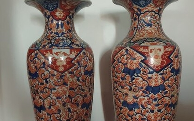 Pair of very large Imari vases h 62 cm (2) - Arita, Imari - Porcelain - Japan - 19th century