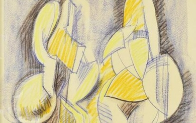 RAUL ANGUIANO (1915-2006) DRAWING CUBIST FIGURES