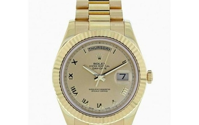 Rolex Day-Date II President 218238 18k Yellow Gold Mens