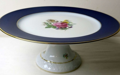 Schumann לל Serving Plate on a Leg (Taza) made of Old German Porcelain made by Schumann