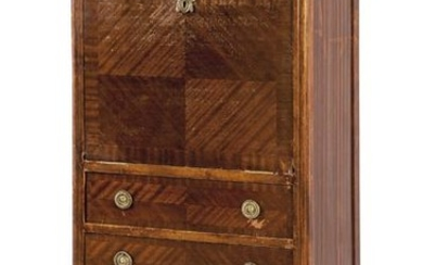 Secretaire aabattant Louis XVI style in mahogany wood