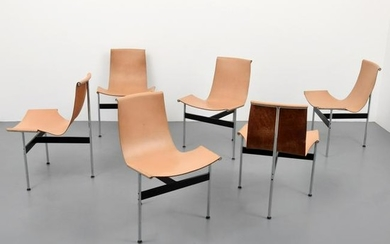 "Set of 6 Katavolos, Littell & Kelley ""T"" Chairs"