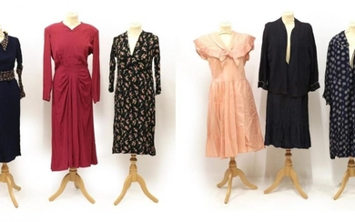 Seven Items of Circa 1930's and 1940's Ladies' Day and...