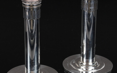 Sigvard Bernadotte for Georg Jensen. A pair of sterling silver candlesticks, Design No. 848