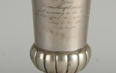 Silver chalice, BWG, 12 lothig, round model placed on a