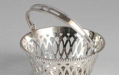 Silver handle basket, 835/000, round sawn model with