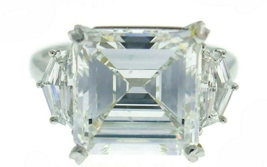 Sophia D Diamond Platinum Ring 5.08 Carat Square
