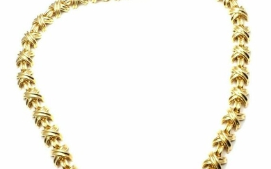Tiffany & Co 18k Yellow Gold Signature X Link Necklace