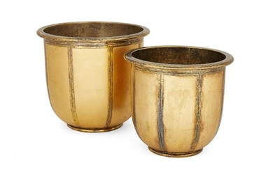 Two gilded silver ice buckets, London, c.1993,...