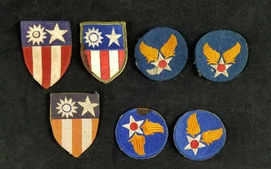 Vintage Lot of 7 WW2 Original Army Air Force Patches