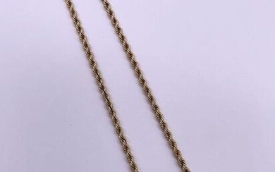 Yellow gold chain 750 thousandths. Gross weight: 26.1 g Length: 50 cm A yellow gold chain