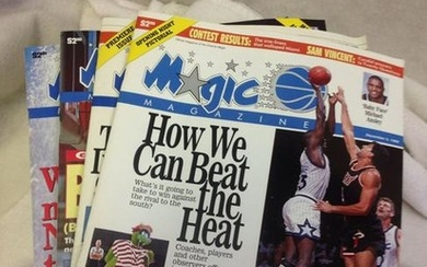 lot of 4 vintage ORLANDO MAGIC MAGAZINE issues 2
