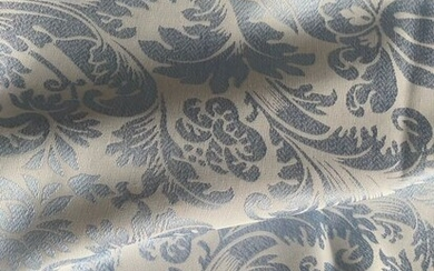 m 2.9 x 2.7 san leucio aquamarine damask fabric - Resin/Polyester, Silk - Second half 20th century