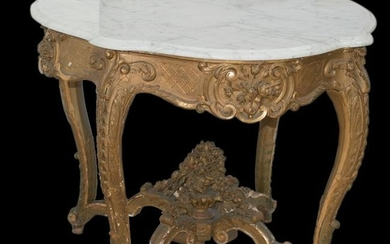 18th Ct Marble Top Table