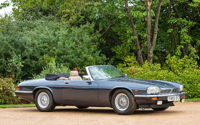 1989 Jaguar XJ-S V12 Convertible, Registration no. F493 OPC Chassis no. SAJJNADW3DB157017
