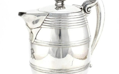 19th century Stimpson's patent double wall pitcher,