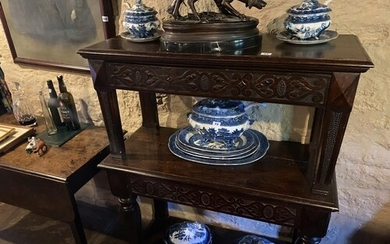 2 TIER DINING ROOM SIDE PIECE, ORNATE