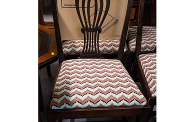 6 MAHOGANY HEPPLEWHITE DINING CHAIRS AF