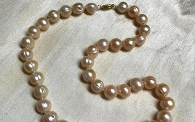 "9-10mm Natural South Sea Pink Pearls 18"" Necklace"
