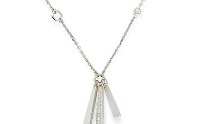 A DIAMOND PENDANT NECKLACE, BOODLES in 18ct white gold