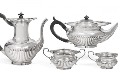 A Four-Piece Victorian and Edward VII Silver Tea and Coffee-Service,...