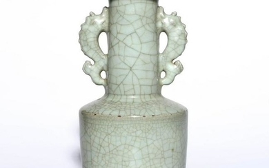 A GE TYPE VASE WITH DOULE HANDLES