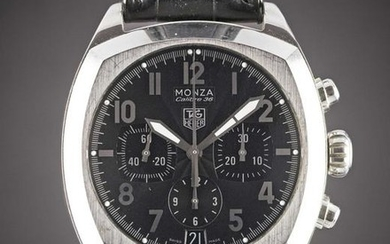 A GENTLEMAN'S STAINLESS STEEL TAG HEUER MONZA CALIBRE