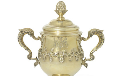 A GEORGE III SILVER-GILT CUP AND COVER, MARK OF FREDERICK KANDLER, LONDON, 1760