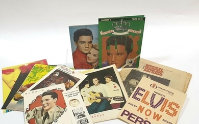 A collection of Japanese Elvis Presley programmes and press ...