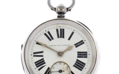 A silver open face pocket watch by E Wise with two silver pocket watches