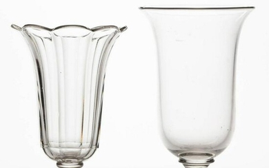 ASSORTED PRESSED AND BLOWN VASES, LOT OF TWO