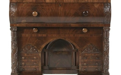 American Late Classical Mahogany Butler's Chest