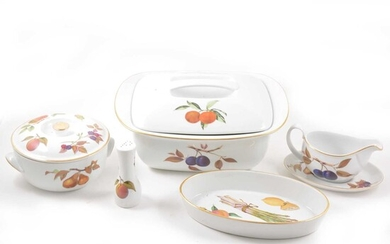 An extensive collection of Royal Worcester Evesham dinnerware.