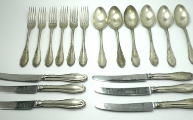 Antique German Silver Cutlery Serving 6 Diners