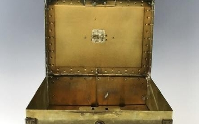 Brass Strong Box with Alarm, Safety Chest Co