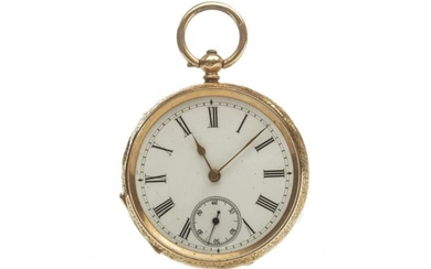 CONTINENTAL OPEN FACE KEY WIND POCKET WATCH, the round...