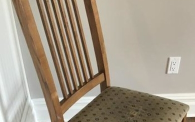 Carved Oak Craftsman Style Side Chair