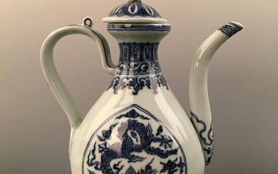 Chinese Blue-White 'Dragon' Pitcher