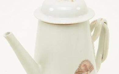 Chinese Export porcelain lighthouse form teapot with