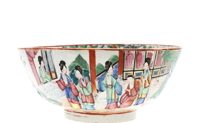 Chinese bowl in Caton rose family porcelain, first third of the 19th Century.