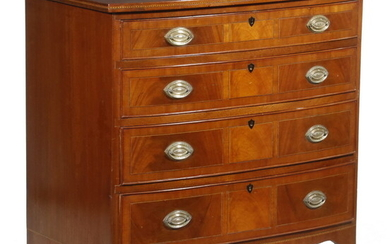 FEDERAL MAHOGANY CHEST OF DRAWERS