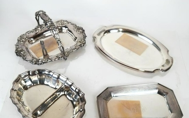 Four Sterling Silver Table Articles